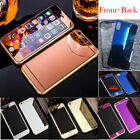 FOR APPLE IPHONE 7 6 5 4 MIRROR FRONT BACK TEMPERED GLASS COLOR SCREEN PROTECTOR