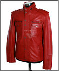 Combat Red (SR5540) Men's Real Soft Lambskin (Grade 1*) Leather Military Jacket