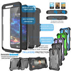 For LG K30 / LG K10 2018 Clip Holster Case Cover with Built-in Screen Protector
