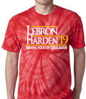 "Tie-Dye Houston Rockets James Harden Lebron James ""19"" T-Shirt on eBay"