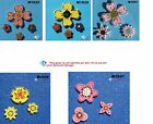 3 ASSORTED FLOWER - HANDMADE, CERAMIC MOSAIC TILES ( Pick you Group ) #14