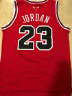 #23 Michael Jordan Throwback Swingman Basketball Jersey Chicago Bulls Red