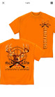 Hick Life Hunting, Redneck, Deer, Crossed Rifles T-Shirt by Erazor Bits, Orange