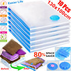 10x Strong Vacuum Storage Bags VAC Space Saving Compressed Bag Vaccum Pack Saver <br/> Available Sizes: 70x50cm, 90x50cm, 100x80cm, 130x100cm