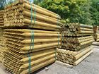 ROUND FENCE FENCING POST STAKE HORSE ANIMAL STRAINER GARDEN FARM TREATED POINTED