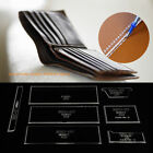 Acrylic Stencil Clear Template For DIY Leather Craft Case/Wallet/Purse Pattern