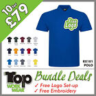 Custom Embroidered Polo Shirt Bundle Personalised with your own Logo design