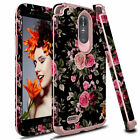 For LG Stylo 4/4 Plus/Stylo 3 Shockproof Hybrid Armor Rose Full Cover Phone Case