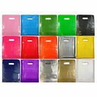 Plastic Carrier Bags Quality Coloured Patch Handle **ALL PATTERNS SIZES COLORS**