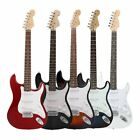 Musical Instruments - Sunset Black,White Electric Guitar/Bass Guitar + Starter Kit Bag Tuner Strap MS