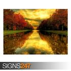 FALL REFLECTIONS (AE069) NATURE POSTER - Photo Picture Poster Print Art A0 to A4