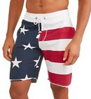 American Flag Board Shorts Lounge Sleep Short Patriotic Sz S to XL Americana