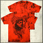 Silver Star Keffiyeh Skull Bandana Gangster Roses Mens T-Shirt Red SMALL NEW