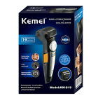 Kemei KM-819 Pro Clipper Hair Trimmer 2 in 1 Hair Machine Adjustable LED NEW