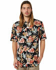 New Zanerobe Men's Forage Ss Mens Shirt Short Sleeve Cotton Pu Rayon Black