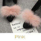 1 Pair Mink Fur Pom Pom Shoe Clips Fluffy Ornament Heels Boots Charms Chic Craft