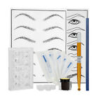 Beauty Microblading Permanent Makeup Kit Tattoo Pigment Needles Cup Tool Set