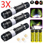 90000Lumens LED T6 Zoomable USB Rechargeable Flashlight Torch +18650 +Charger