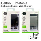 Belkin -Dual Port Home Wall Charger + Lightning Cable Fast C