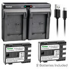 Kastar Battery Slim Dual Charger for Canon NB-2L CB-2LW & MVX40i MVX45i MVX200