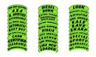 V-T Vinyl Highlights Eyebrow Adhesive Slogan Car Dealer Sticker Green & Black