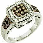 0.50 ct (ctw) 14 ct Gold Round Brown & Diamond Ladies Right Hand Fashion Ring