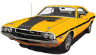 Dodge 1970 Challenger R/T canvas art print by Richard Browne banana or plum