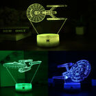 Star Trek USS Enterprise 3D LED Night Light Table Desk Lamp Xmas Gift 7 Color on eBay