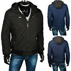 HERREN WINTER STEPP JACKE WINTERJACKE FELL GEFÜTTERT KAPUZE PARKA WARM