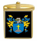 Doyle Ireland Family Crest Surname Coat Of Arms Gold Cufflinks Engraved Box