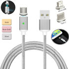 Braided Magnetic Lightning USB Charger Charging Cable For Samsung LG Android