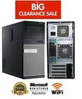 Dell OptiPlex 790/990 Tower Core i3 Windows 7/10 2TB/SSD 4GB/8GB WiFi PC