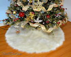 Assorted Sizes Tree Skirt Faux Fur Material Snow Like Under the Tree