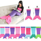 Kids Childrens Mermaid Tail Fleece Blanket snuggle-in Sleeping Bag Fancy Dress