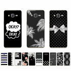 Soft TPU Case For Samsung Galaxy A3 2016 2017 2018 J2 Prime Back Cover B&W