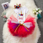 Fancy Baby Girls 1st Birthday Unicorn Party Sets Tutu Dress