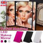Tri-Fold Magnifying Vanity Compact Makeup Mirror with 8LED Lights Travel Mirrors