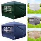 Pop Up Gazebo 4 Side Wall Panel Marquee Outdoor Garden Party Folding Tent Canopy