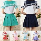 Fashion Japanese School Girls Dress Outfit Sailor Uniform Anime Cosplay Costumes
