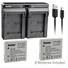 Kastar Battery Dual Charger for Canon NB-4L NB-4LH Canon Digital IXUS 70 IXUS 75