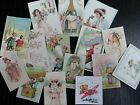 BB39 Lot of 15 VINTAGE HAPPY NEW YEAR GREETING DIE CUTS for crafts making
