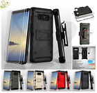 For Samsung GALAXY S9 /Plus Impact Hybrid Armor Rugged Case Cover Holster Screen