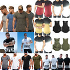 Men Short Sleeve T Shirt Slim Fit Casual Tops Clothes Bodybuilding Muscle Tee US