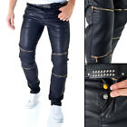 Sixth June Faux Leather Bikers Trousers Pants Shimmering Slim Party W28 - W32