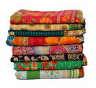 WHOLESALE LOT INDIAN KANTHA VINTAGE BLANKET THROW QUILT HIPPY BOHEMIAN BEDSPREAD image
