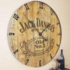 "Large 35"" Jack Daniels Reclaimed Wood Laser Engraved Clock old No. 7 Bar"