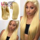 613 Blond Brazilian Remy Human Hair Lace Wig Straight Hair Pre Plucked Baby Hair