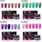 CLAVUZ 6 Colors Set Soak Off Professional Salon UV LED Gel Nail Polish Top Coats