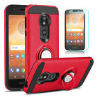 For Motorola Moto E5 Play/E5 Cruise Case With Ring Stand Holder+Screen Protector