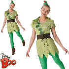 Ladies Peter Pan Womens Disney Fairytale Movie Character Adults Fancy Dress New